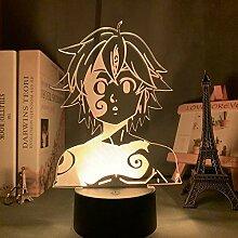 Acryl Nachtlicht Lampe Manga Die sieben Todsünden