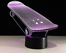 Acryl Skate Board 3D Lampe Roller Lampe Wohnzimmer
