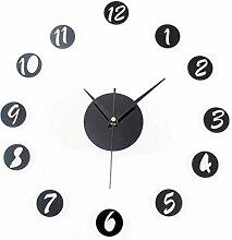 Acryl Spiegel DIY Wanduhr Fashion Creative Portfolio Uhr Wanduhr Uhr ( farbe : Schwarz )