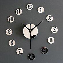 Acryl Spiegel DIY Wanduhr Fashion Creative Portfolio Uhr Wanduhr Uhr ( farbe : Mirror Silver )