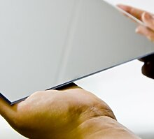 Acryl-Spiegel/Plexiglas-Spiegel, 3mm XT, 95 x 40 cm