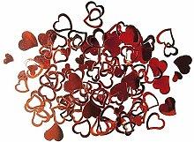 Acryl -Straßherzen- rot - Accessoires