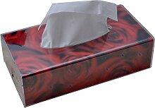 Acryl Tissue Box Wohnzimmer Papierkiste Serviette Karton Restaurant Pumping Kartons Rechteck ( Farbe : A )
