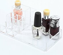 Acryl Transparent Nagellack Entferner kosmetischer Aufbewahrungsbox schmink aufbewahrung Display-Regal