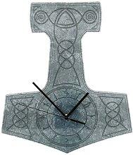 Acryl-Wanduhr Thor's Hammer Wanduhr - grau