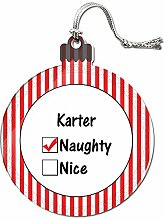 Acryl Weihnachtsbaum Dekoration Urlaub Naughty Namen männlich ka-ke Karter