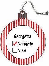 Acryl Weihnachtsbaum Dekoration Urlaub Naughty Namen weiblich ga-ge Georgetta