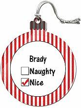 Acryl Weihnachtsbaum Dekoration Urlaub Nizza Namen männlich bi-br Brady