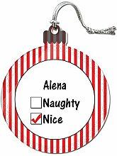 Acryl Weihnachtsbaum Dekoration Urlaub Nizza Namen weiblich ai-al Alena