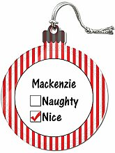 Acryl Weihnachtsbaum Dekoration Urlaub Nizza Namen weiblich mab-maj Mackenzie