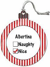 Acryl Weihnachtsbaum Dekoration Urlaub Nizza Namen weiblich ai-al Albertina