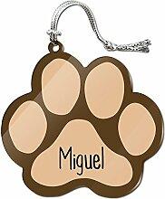 Acryl Weihnachtsbaum Dekoration Urlaub Pfotendruck Namen männlich mas-mi Miguel