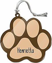 Acryl Weihnachtsbaum Dekoration Urlaub Pfotendruck Namen weiblich ha-he Henrietta