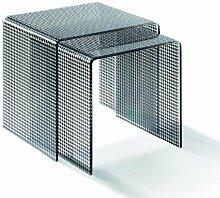Acryl Zweisatztisch klar / schwarz