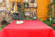 ACRYLBESCHICHTETE Gartentischdecke eckig mit Bleiband im Saum, in vielen verschiedenen Größen, Farben acrylbeschichtet in Designs:Rustikal, bordeaux Maß: 140x160