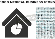 "Acrylbild-Bild 80 x 60 cm: ""Realty Pie Chart icon with 1000 medical business gray and blue vector pictographs. Design style is flat bicolor symbols, white b"", Bild auf Acrylbild"