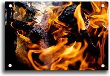 Acrylbild Flames