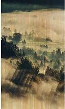 Acrylbild Nebliger Wald