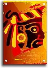 Acrylbild Stammesgesicht