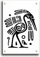 Acrylbild Stammesvogel