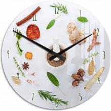 Acrylglas-Wanduhren - Wanduhr Küchenkräuter