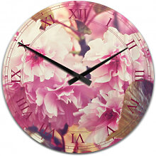 Acrylglas-Wanduhren - Wanduhr Vintage Kirschblüten