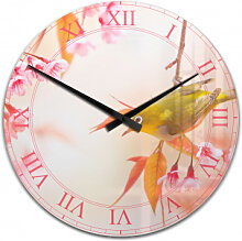 Acrylglas-Wanduhren - Wanduhr Vogelgezwitscher in