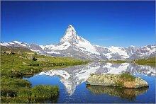 Acrylglasbild 100 x 70 cm: Matterhorn im Sommer