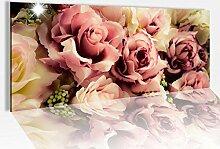 Acrylglasbild 100x40cm Blume Blumen Muster Rosen