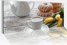Acrylglasbild 100x40cm Küche Kaffee Frühstück