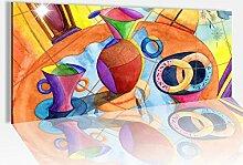 Acrylglasbild 100x40cm Malerei modern abstrakt
