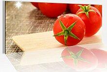 Acrylglasbild 100x40cm Tomate rot Tomaten Küche