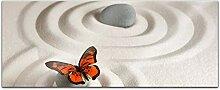 Acrylglasbild 100x40cm Wellness Spa Sand Feng Shui