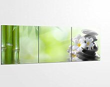 Acrylglasbilder 3 Teilig 150x50cm Wellness Ruhe