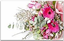 Acrylglasbilder 80x50cm Blume Blumen Blumenstrauß