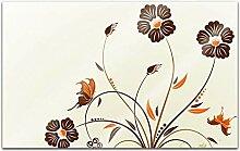 Acrylglasbilder 80x50cm Blume Blumen Schmetterling