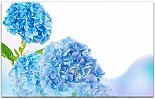 Acrylglasbilder 80x50cm Blume Hortensie blau