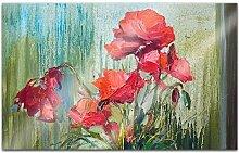 Acrylglasbilder 80x50cm Blumen abstrakte Kunst