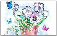 Acrylglasbilder 80x50cm Blumen Blume Topf