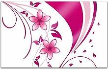 Acrylglasbilder 80x50cm Blumen Muster Blumenranke