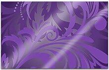 Acrylglasbilder 80x50cm Blumen Muster lila violett