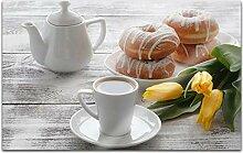 Acrylglasbilder 80x50cm Küche Kaffee Frühstück