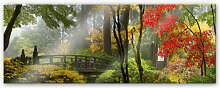 Acrylglasbilder - XXL Wandbild Japanischer Garten