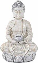 ACTIVA Buddha Figur mit Schale, Teelichthalter, 44