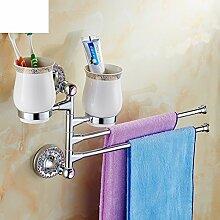 Activity Handtuchhalter/Kupfer kontinentalen Zahnbürste Tasse/Schwenken Sie Handtuchhalter/Becher-B