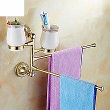 Activity Handtuchhalter/Kupfer kontinentalen Zahnbürste Tasse/Schwenken Sie Handtuchhalter/Becher-A
