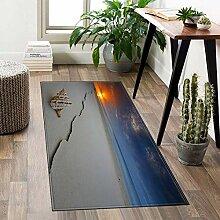 ACUY Teppichläufer Meterware 100x100cm, Teppich