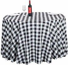 ACVIP Tischdecke Runde Tischtücher Retro Kariert