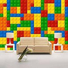 ACYKM Benutzerdefinierte Fototapete 3D Lego Bricks