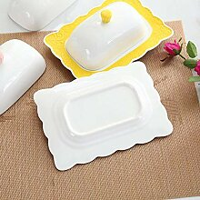 ACZZ Porzellan-Butterdose mit Deckel Moderne